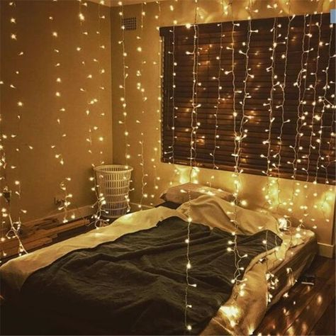 Beautiful Decorating Bedroom With Christmas Lights