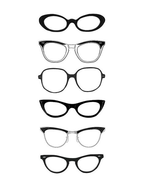 Black  White | Spectacles Cat-eyes take me back to 1964