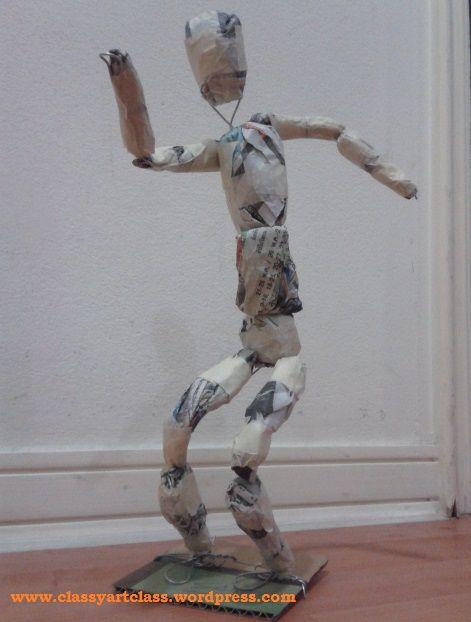 Wire Armature For Paper Mache Wiring Book Sculpture Newspaper