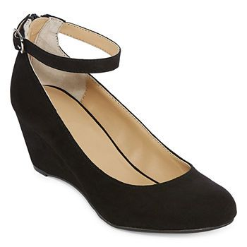 Ankle strap heels, Ankle strap wedges