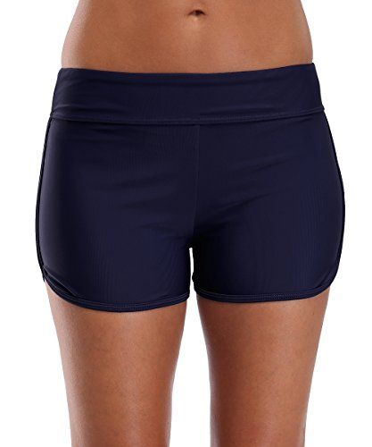 CharmLeaks Damen Badeshorts Schwimm Hotpants Bikini Badehose