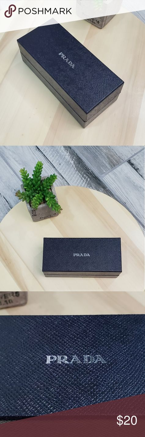 Prada sunglasses  case box. Black Prada sunglasses  case box. Black Great backup in car, Office, or gym. For any questions dont hesitate to contact me. Thanks Prada Accessories Sunglasses