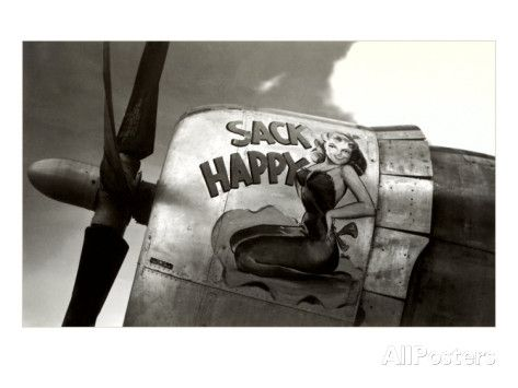 Nose Art, Sack Happy Pin-Up Impressão artística