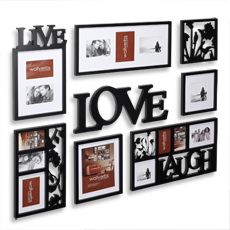 Live Love Laugh 7pc Collage Wall Picture Frames Plaques For Sale