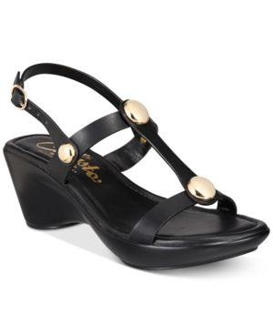 Callisto Toggle Wedge Sandals Black 6.5M   Products   Flip