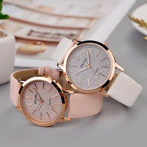 Reloj De Pulsera Analogico Ny15 De Moda Elegante Para Mujer Pulsera De Lujo Correa De Cuero De Cuarzo Relojes Simples Relojes De Moda Mujer Relojes De Cuero
