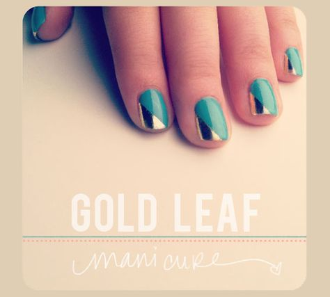 how-to: gold leaf manicure · the beauty department