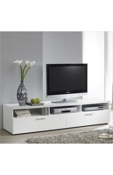 tv table 180 cm 40 cm 45 cm white