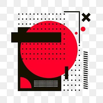 Pop Style Cartoon Cute Logo Memphis Creative Illustration Hand Drawn Black Square Red Circle Memphis Pop Style Red Circle Png Transparent Clipart Image And P Creative Illustration Hand Logo Cute Logo