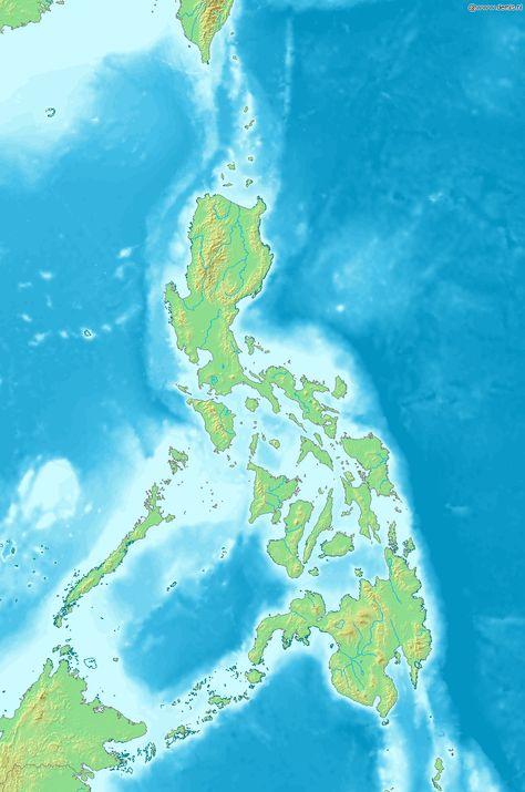 Mapa fsico de Filipinas Filipinas  Wikipedia httpes