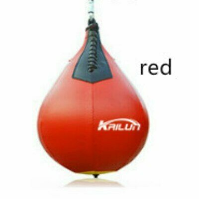 AQF Leather Speed Ball /& Swivel Boxing Punch Bag MMA Speed Bag Training Set /&