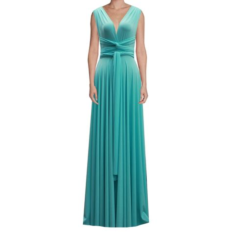 Infinity Dress Tiffany Blue Bridesmaid Gown Plus Size Prom ...