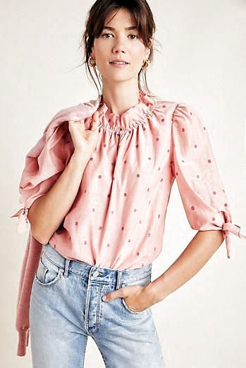 Presented by Anthropologie. Subtle metallic threadwork lends depth and refinement to this embroidered blouse. A fun and flowy look for warm weather days. #bohofashion #bohostyle #bohocasual #bohochic #over40boho #over40fashion #over50fashion #bohosummer #bohofall #bohoblouse #bohotop #bohotunic #blouse #top #tunic #summerfashion #fallfashion #looksummer #lookfall #fashionblouse #fashiontop #fashiontunic #fashiontrends #fashionlookbook #officelook #look #tr #fashionforwomenover50outfitsblouses