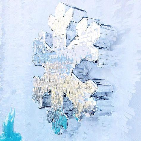 The Frozen Snow-Flake Pinata on Etsy, $102.33