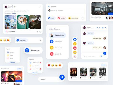 UI components of Facebook