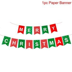 Merry Christmas Banner Ornaments New Year Christmas Decorations For Home Xmas Party Santa Claus Bell Flag Garlands Merry Christmas Banner Christmas Banners Merry Christmas Decoration