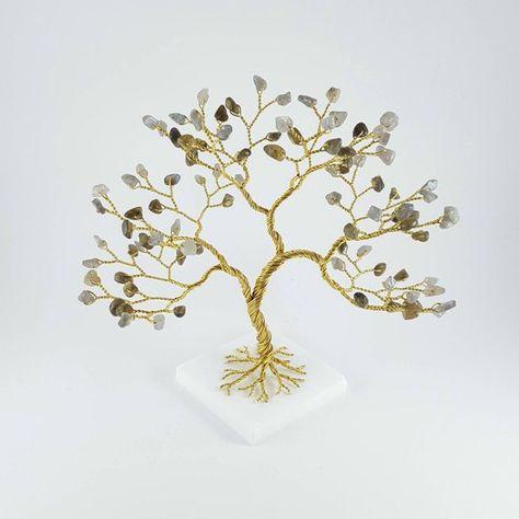 Labradorite Gemstone Tree Wire Tree Sculpture