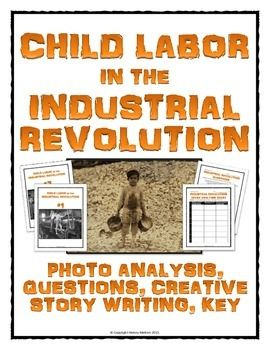 Industrial Revolution Child Labor Photo Analysis Activity With