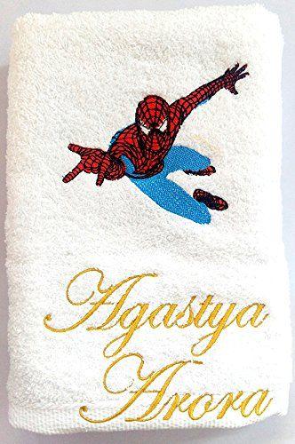 Turtle Little Spiderman Of Avengers Personalised Kids Bath Towel