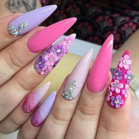 34 Smart Nail Art Designs That Are Off The Chart - HashtagNailArt.com