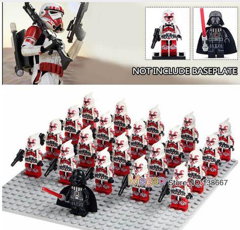 21pcs Star Wars Military Clone Army Minifigures Darth Vader Yoda Jedi for Lego