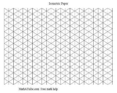 Isometric Graph Paper  Design Ideas    Graph Paper