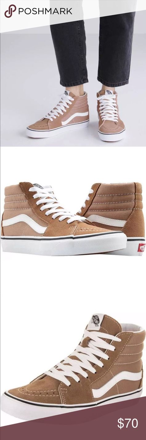 07a5bd1cdcaa Vans Women s Sk8-Hi Tiger s Eye White Skate Shoes NEW AUTHENTIC Vans Sk8-Hi  Skate COLOR Tiger s Eye True White Live authentically and show off your  stylish ...