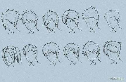 15 Trendy Hair Tutorial Drawing Anime Manga Hair Drawing Male Hair How To Draw Anime Hair