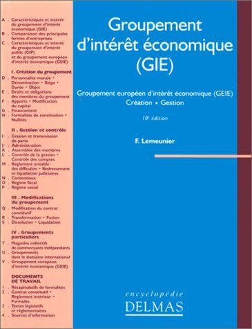 Telecharger Groupement D Interet Economique Gie Groupement Europeen D Interet Economique Geie Telechargement Telecharger Livre Gratuit Pdf Telecharger Pdf
