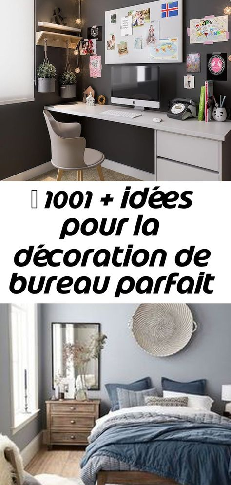 Mur Gris Fonce Et Bureau Gris Claire Cool Idee Amenagement Coin