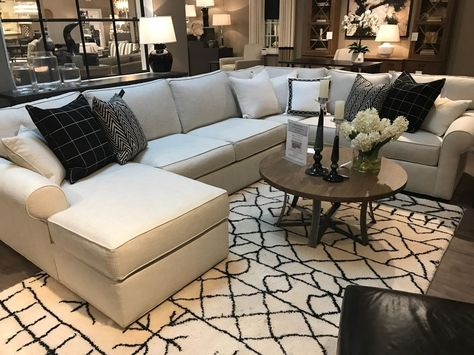 Custom Ethan Allen Sectional Sofa  great for seating a lot of people #EthanAllen