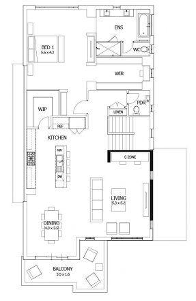 Double Story House Plans Upside Down House Designs Reverse Living House Plans Seabreeze Moj 1 Bedroom House Plans Architectural Floor Plans House Plans