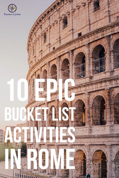 10 epic things to do in Rome, Italy that you MUST add to your bucket list. #romeitaly #bucketlisttravel #bucketlistideas #italytrip #europetravel #europebucketlist #italybucketlist #italytravel #rometravel #italytravelinspiration