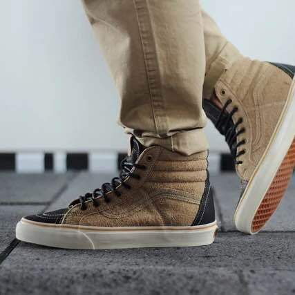 VANS men's shoes shoes to help SK8 HI shallow coffee high