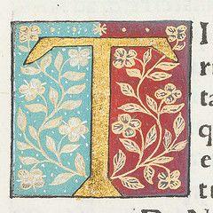 """Decorated initial """"T"""" in Scriptores historiae Augustae."""