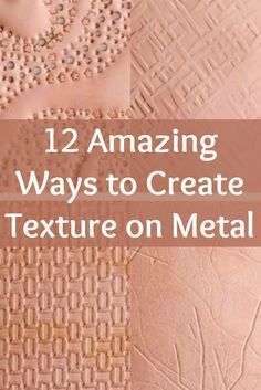 Creating texture on metal is easier than you think with expert Helen Driggs' 12 ways to create texture on metal! – metal of life Metal Clay Jewelry, Copper Jewelry, Metal Jewelry Handmade, Metal Jewellery, Copper Art, Bullet Jewelry, Copper Roll, Metal Jewelry Making, Silver Jewellery
