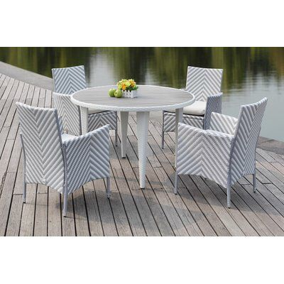 Mcgrady 5 Piece Dining Set Wicker Dining Chairs Patio Dining Set Outdoor Furniture Sets