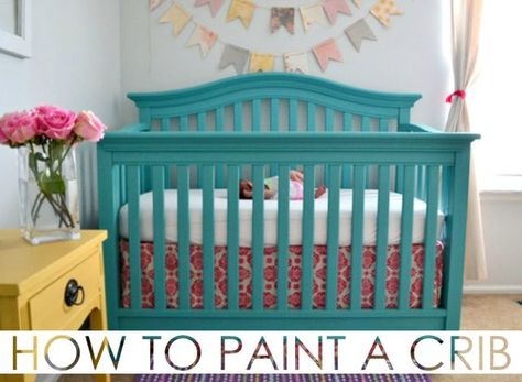 How To Paint A Crib Project Nursery Painting A Crib Painted Nursery Furniture Baby Furniture
