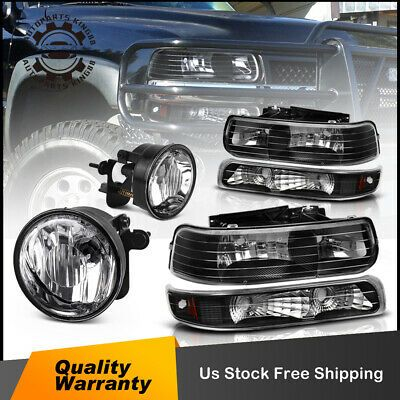 For 03 06 Chevrolet Tahoe 04 06 Suburban 1500 Headlight W Fog Light Assembly Chevrolet Tahoe Chevrolet Headlights