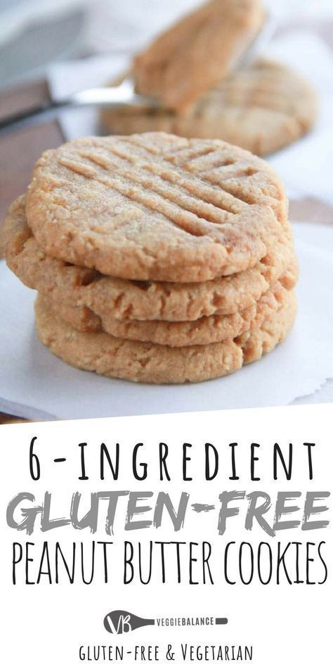 Gluten Free Peanut Butter Cookies Are Made With Only 6 Natural