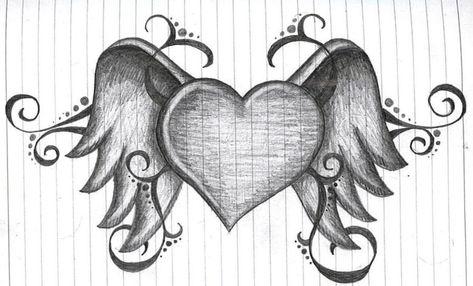 heart with wings by amanda11404.deviantart.com on @deviantART