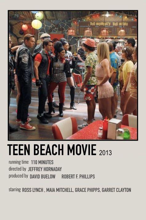 teen beach movie polaroid poster