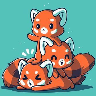Fluffy Red Pandas Red Panda Cartoon Panda Wallpapers Red Panda Cute