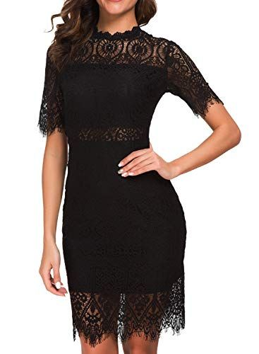 df760359c New Zalalus Zalalus Women's Elegant High Neck Short Sleeves Lace Cocktail  Party Dress. womens dresses [$29.99 - 33.99] from top store topoffergoods.ga