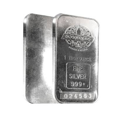 1981 1 Oz Engelhard Silver Bar Maple Maple Leaf Logo Silver Bars Silver