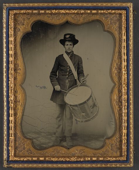 American Civil War Union Soldier Drum North 1860s USA 6x5 Inch Reprint Photo