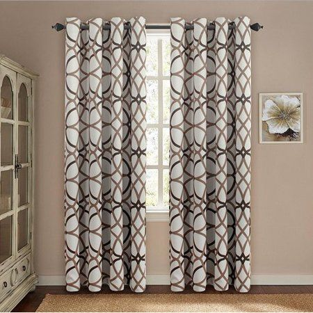 Winston Porter Mahaney Geometric Blackout Thermal Grommet Curtain