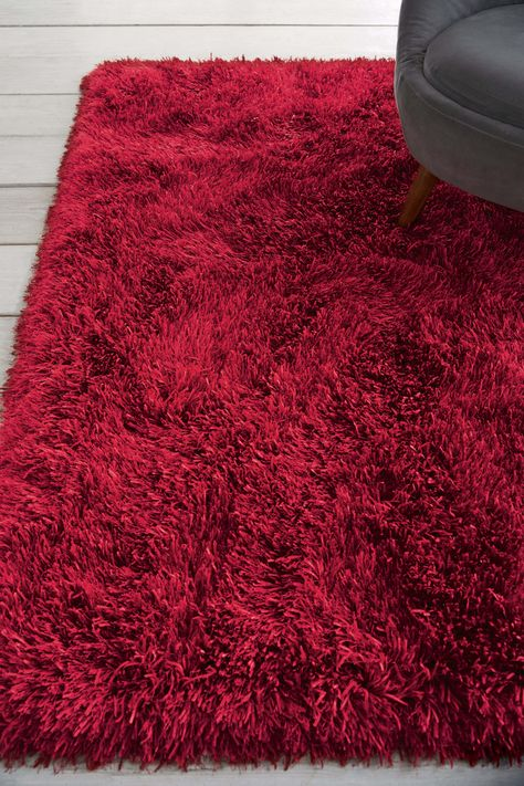 Next Collection Luxe Glimmer Rug Red