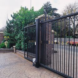 Building A Home Is A Process And Each Allocation Involves Immense Labour Of Love Even If It Is Just The Fence G House Gate Design Driveway Gate Entrance Gates