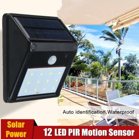 Waterproof 12 Led Solar Powered Pir Motion Sensor Light Security Wall Light Lamp Outdoo Motion Sensor Lights Outdoor Motion Sensor Lights